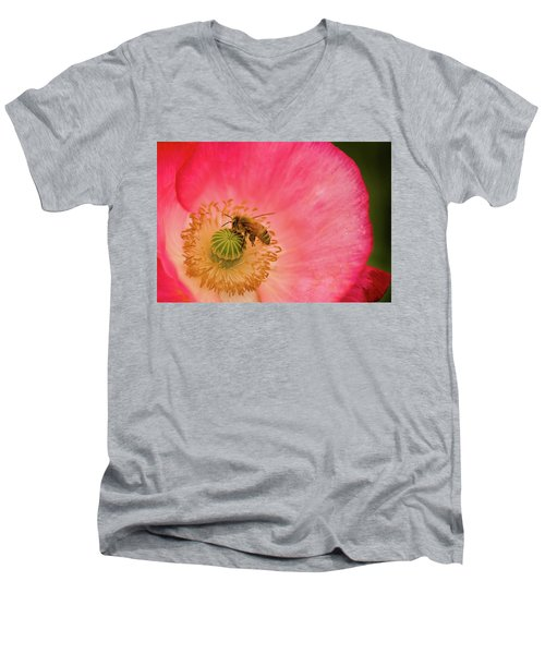 Happy Bee Men's V-Neck T-Shirt