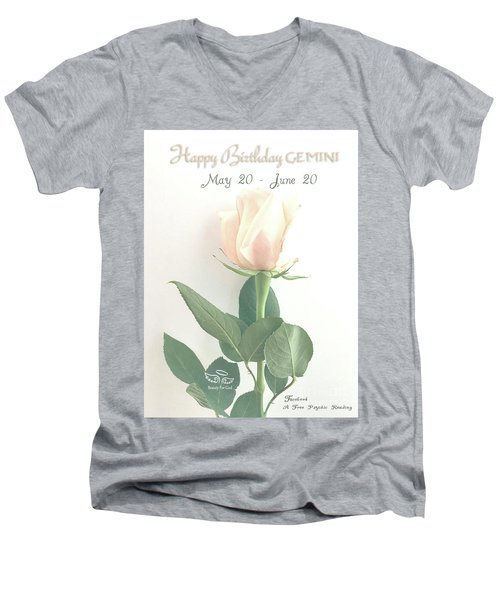 Happy Birthday Gemini Men's V-Neck T-Shirt
