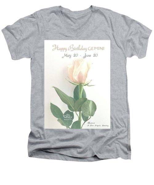 Happy Birthday Gemini Men's V-Neck T-Shirt