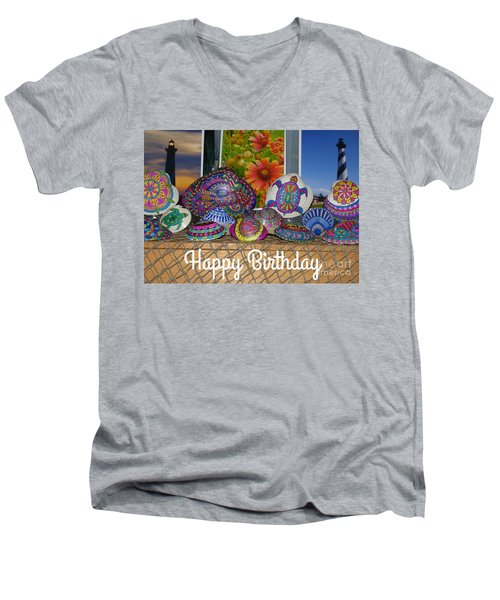 Happy Birthday Shells Men's V-Neck T-Shirt