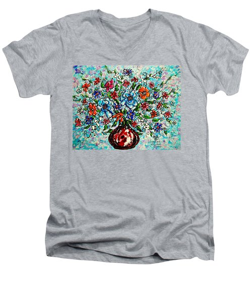 Happy Bouquet Men's V-Neck T-Shirt