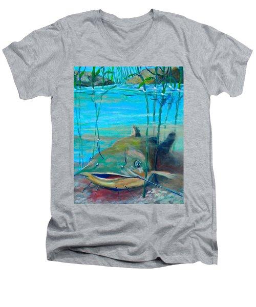 Happy Catfish Men's V-Neck T-Shirt