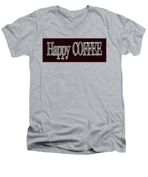 Happy Coffee Mug 2 Men's V-Neck T-Shirt by Robert J Sadler