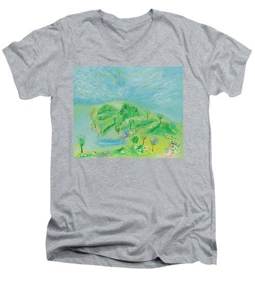 Happy Days. Landscape Men's V-Neck T-Shirt