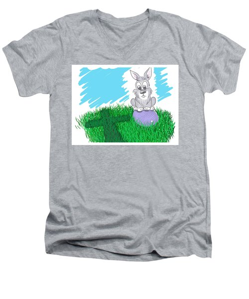 Happy Easter Men's V-Neck T-Shirt by Antonio Romero