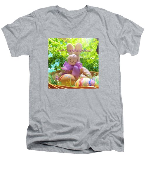 Happy Easter Everyone Men's V-Neck T-Shirt by Denise Fulmer