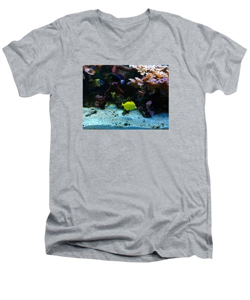 Happy Fish At Panda Garden Restaurant Men's V-Neck T-Shirt by Patricia E Sundik