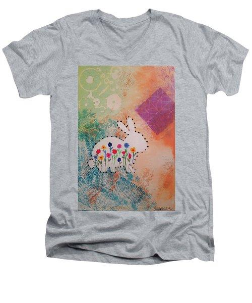 Happy Garden Men's V-Neck T-Shirt