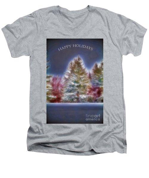 Happy Holidays Men's V-Neck T-Shirt