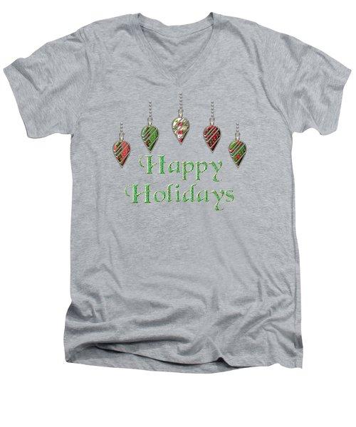 Happy Holidays Merry Christmas Men's V-Neck T-Shirt