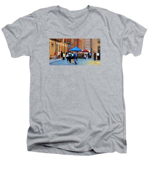 Happy Hour On Stone St. Nyc Men's V-Neck T-Shirt
