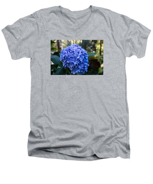 Happy Hydrangea Men's V-Neck T-Shirt