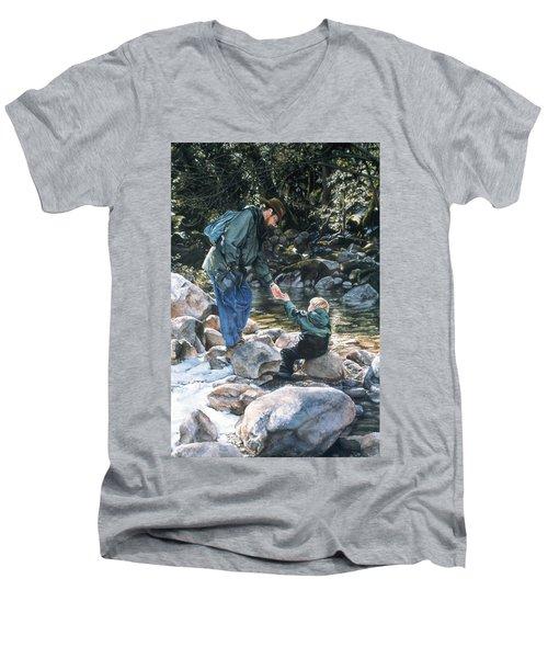 Happy Isles Men's V-Neck T-Shirt