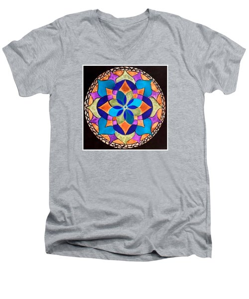 Happy Mandala  Men's V-Neck T-Shirt