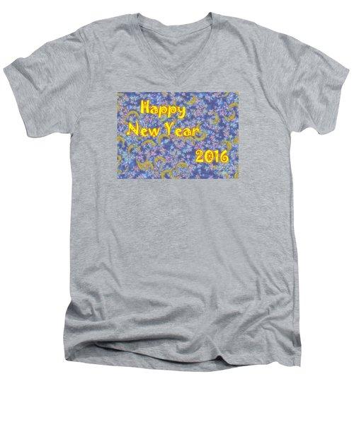 Happy New Year 2016 Men's V-Neck T-Shirt