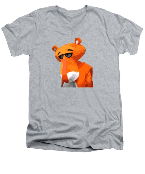 Happy Panther Men's V-Neck T-Shirt