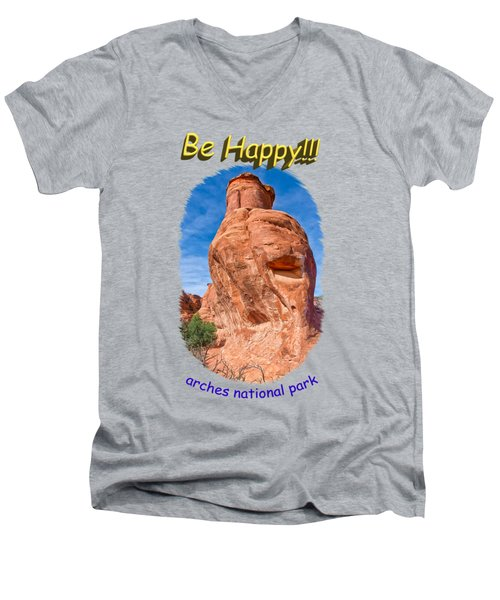 Happy Rock Men's V-Neck T-Shirt