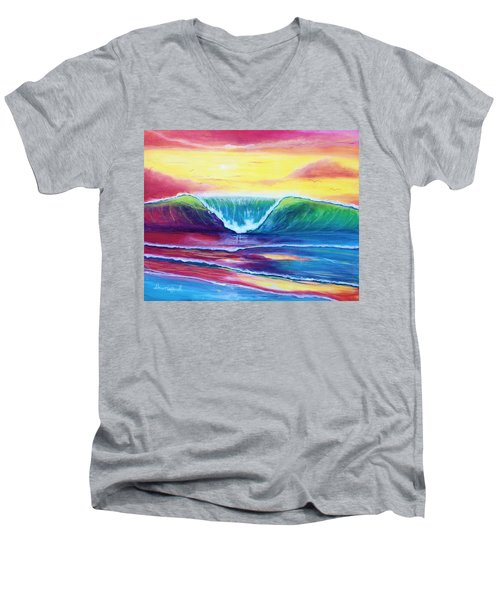 Happy Wave Men's V-Neck T-Shirt