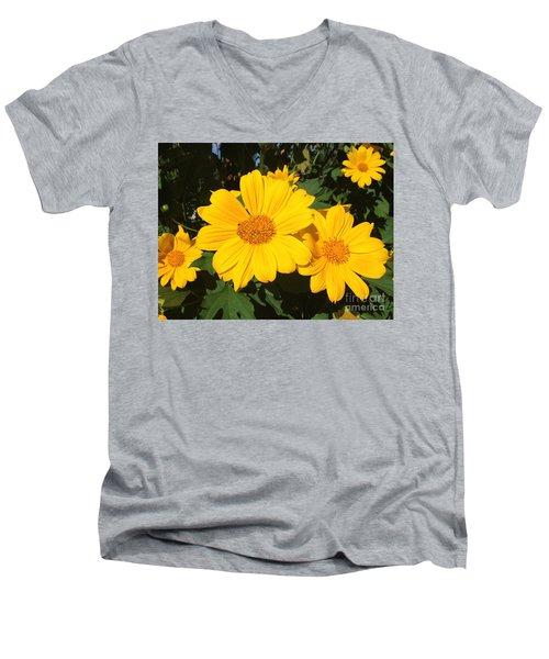 Happy Yellow Men's V-Neck T-Shirt