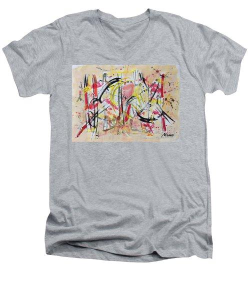 Happyness Men's V-Neck T-Shirt