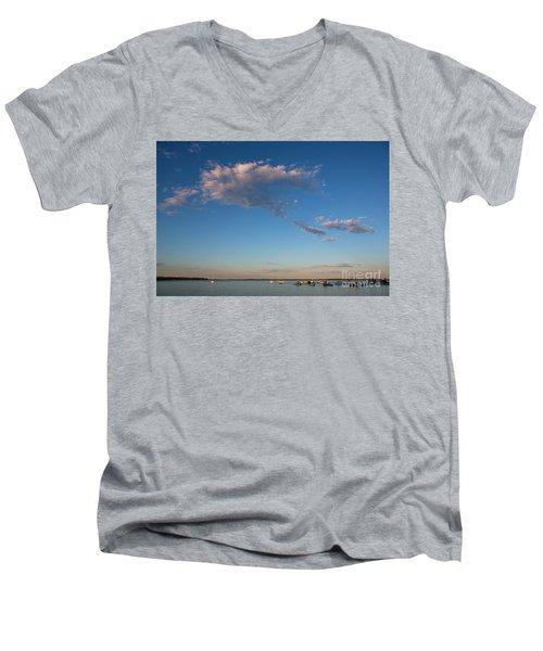 Harbor In Lincolnville,maine Men's V-Neck T-Shirt by Diane Diederich