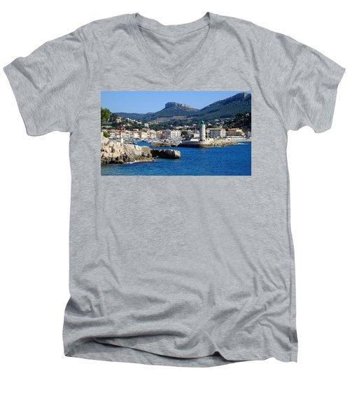 Harbor Of Cassis Men's V-Neck T-Shirt