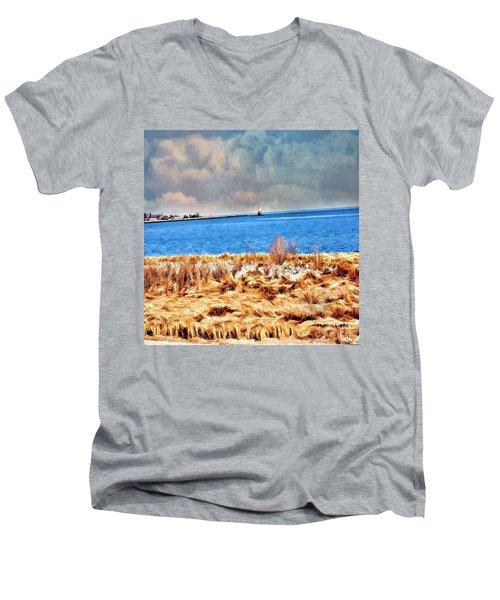Harbor Of Tranquility Men's V-Neck T-Shirt