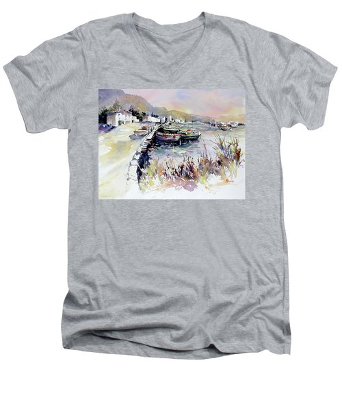 Harbor Shapes Men's V-Neck T-Shirt