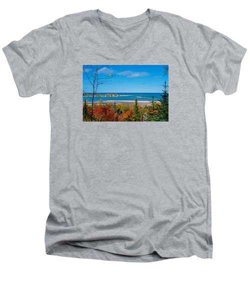 Harbor View  Men's V-Neck T-Shirt