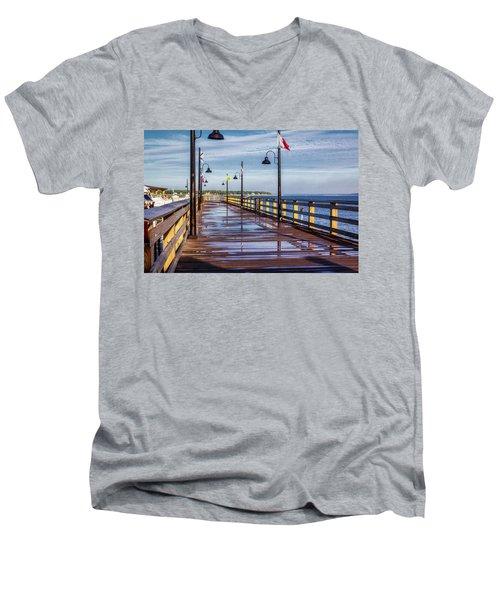 Harbour Town Pier Men's V-Neck T-Shirt