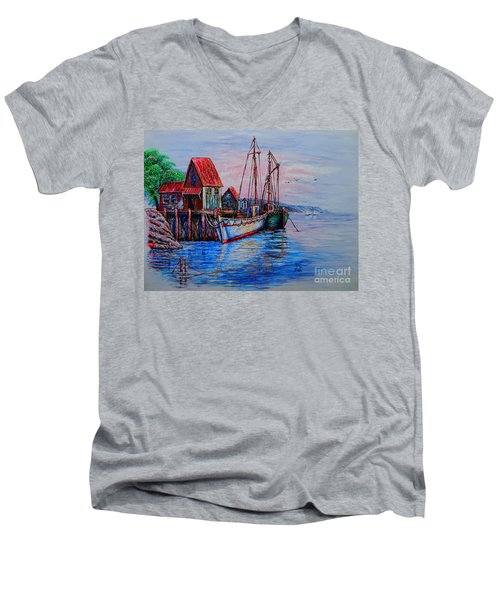 Harbour Men's V-Neck T-Shirt