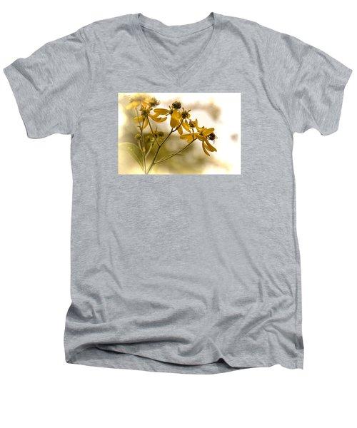 Hard At Work Men's V-Neck T-Shirt by Dennis Lundell