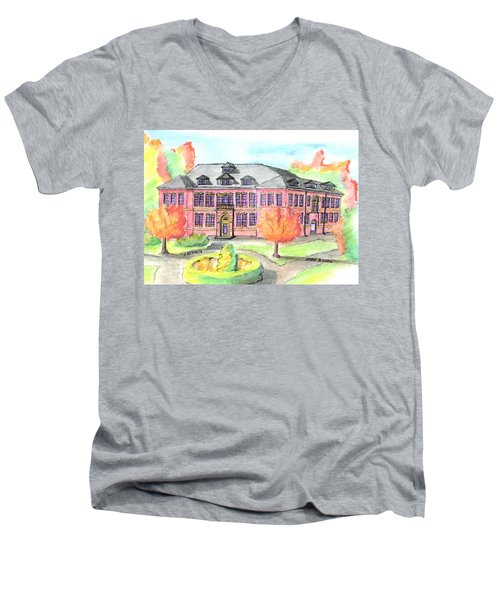 Hardie Building Beverly Men's V-Neck T-Shirt by Paul Meinerth