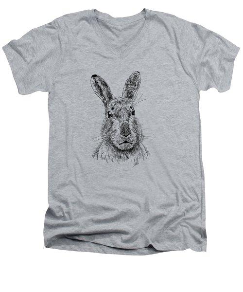 Hare Men's V-Neck T-Shirt