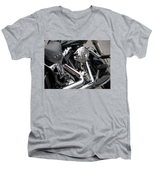 Harley Chrome Men's V-Neck T-Shirt
