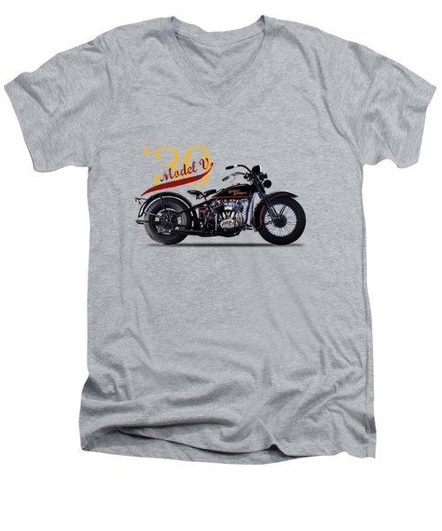 Harley-davidson Model V 1930 Men's V-Neck T-Shirt