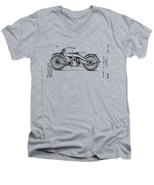 Harley Motorcycle Patent Men's V-Neck T-Shirt