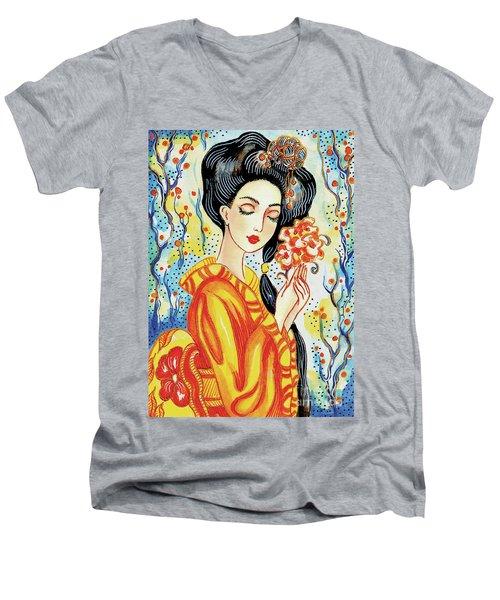 Harmony Flower Men's V-Neck T-Shirt