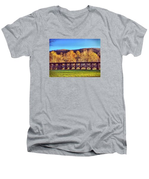 Harpers Ferry Train Tracks Men's V-Neck T-Shirt
