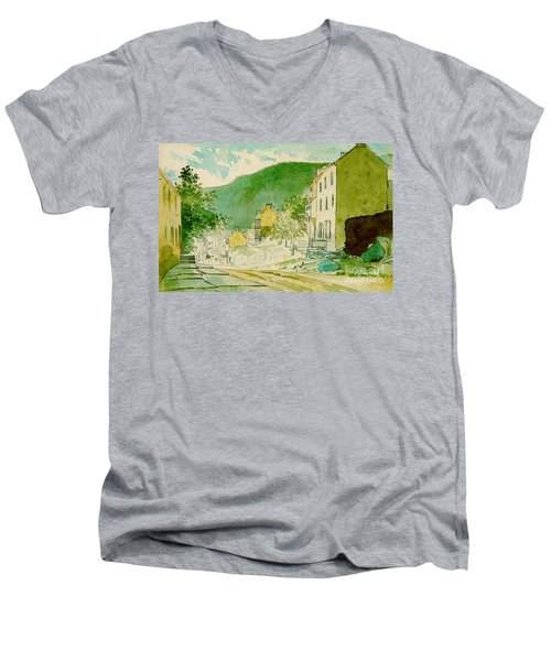 Harpers Ferry West Virginia 1873 Men's V-Neck T-Shirt by Padre Art