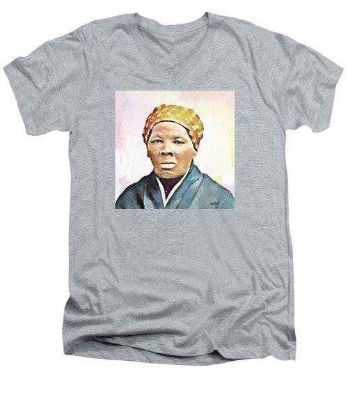 Harriet Tubman Men's V-Neck T-Shirt by Wayne Pascall