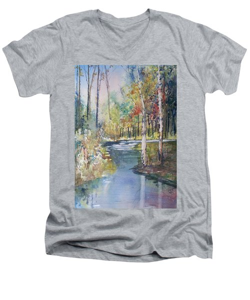 Hartman Creek Birches Men's V-Neck T-Shirt