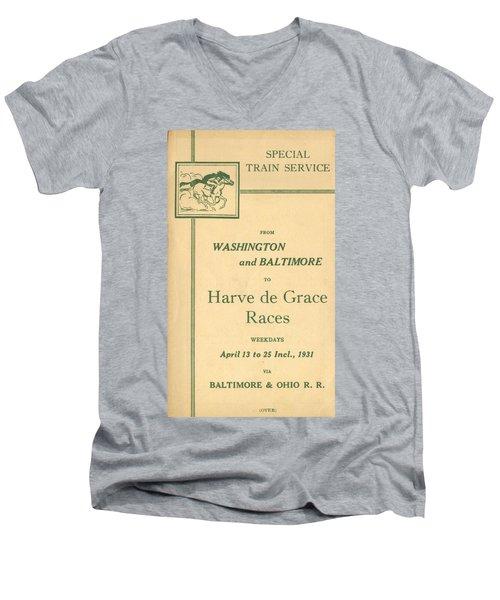 Harve De Grace Races Men's V-Neck T-Shirt