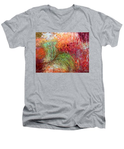 Harvest Abstract Men's V-Neck T-Shirt