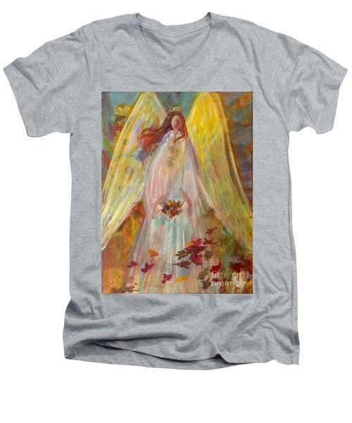Harvest Autumn Angel Men's V-Neck T-Shirt