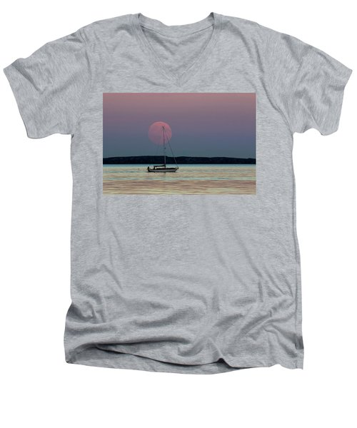Harvest Moon - 365-193 Men's V-Neck T-Shirt by Inge Riis McDonald