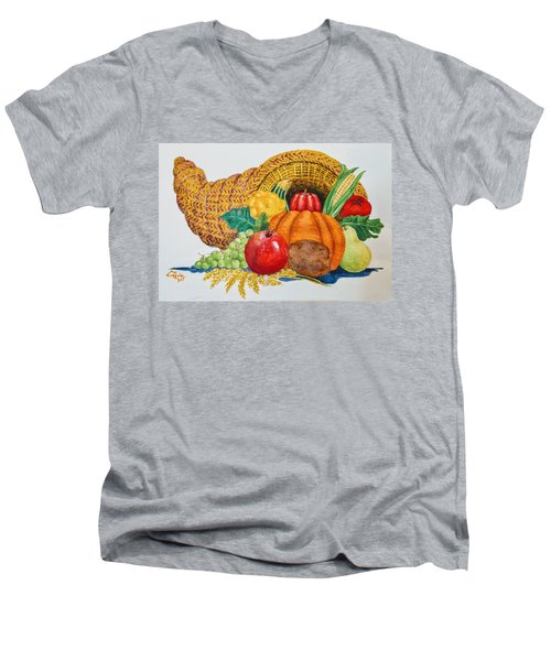 Harvest Time2  Men's V-Neck T-Shirt