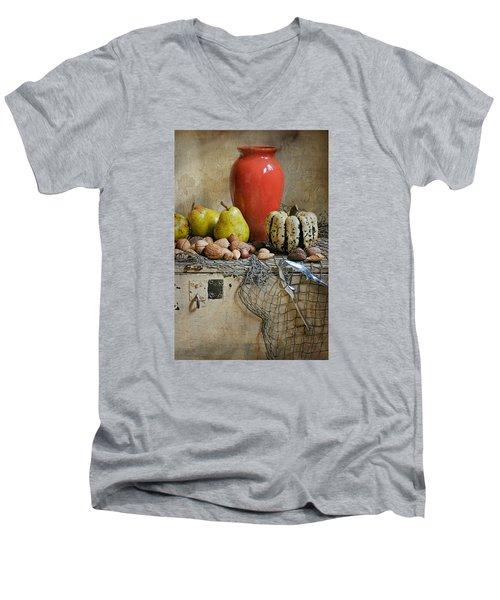 Harvest Vase Men's V-Neck T-Shirt by Diana Angstadt