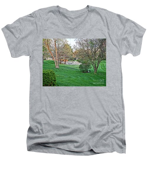 Harwycke Commons  Men's V-Neck T-Shirt