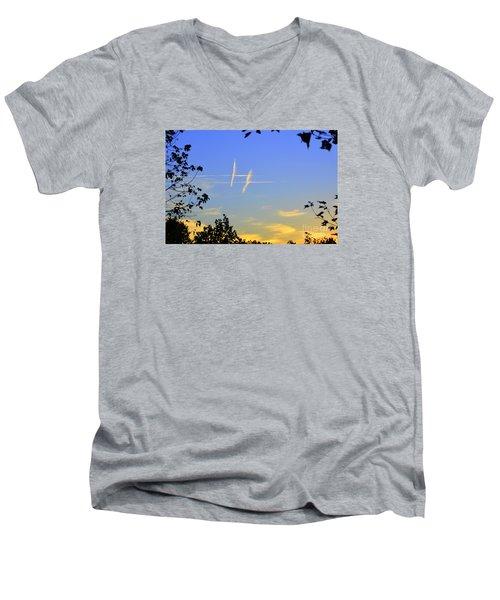 Hashtag Sky Men's V-Neck T-Shirt
